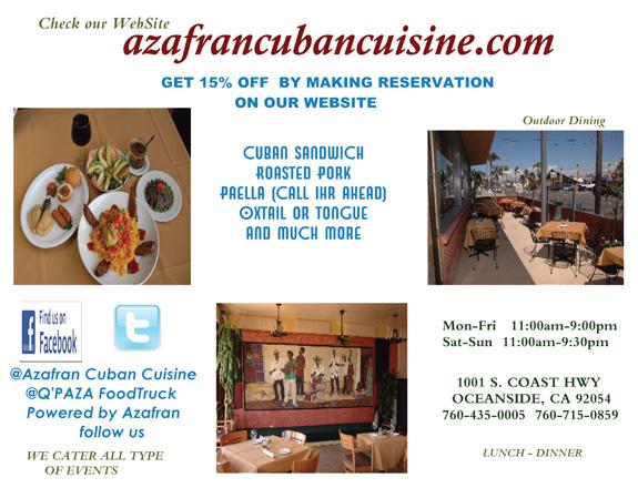 Azafran cuban cuisine for Azafran cuban cuisine