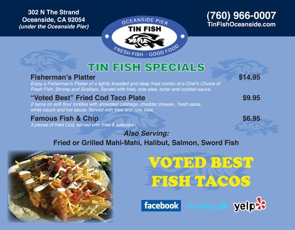 The tin fish for Tin fish restaurant