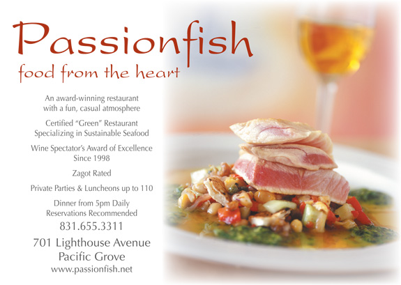 Passionfish pacific grove restaurants dining for Passion fish monterey
