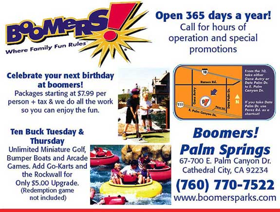 Boomers Family Fun Center Recreation Near Palm Desert