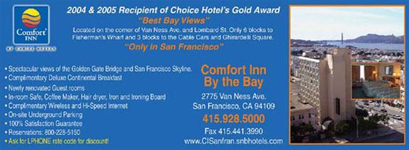 comfort inn by the bay san francisco hotels lodging. Black Bedroom Furniture Sets. Home Design Ideas