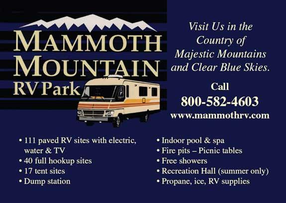 Mammoth Mountain RV Park 2667 Main St. Mammoth Lakes, California Phone:  (760) 934-3822
